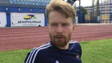 Jacob Une Larsson om första gräspasset med DIF