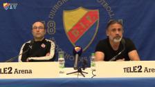 Presskonferensen efter DIF-Helsingborg