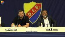 Presskonferensen efter DIF-Mariupol