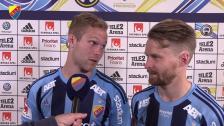 Gustav Engvall - och Jacob Une Larsson - om matchen