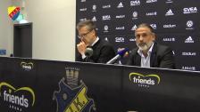 Presskonferensen på Friends Arena efter derbyt