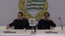 Presskonferensen efter 4-0-segern mot AFC