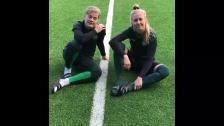 Jonna Anderssons och Britta Gynnings träningspass