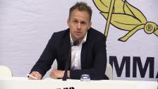 Presskonferensen efter Bajens vändning i hemmamötet med IFK Göteborg