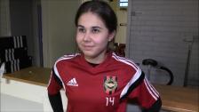Julia Olsson redo för att möta Vaksala SK