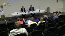 Presskonferensen efter premiärmatchen