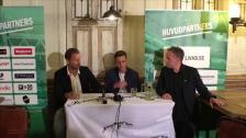 Presskonferensen med Jeppe Andersen