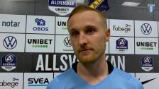 Franz Brorsson efter 1-1 borta mot AIK