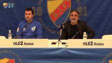 Presskonferens efter Djurgården-Degerfors