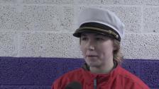 Matchens lirare Sarah Berglind efter vinsten mot Leksand