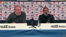 Presskonferensen efter DIF-IFK Göteborg