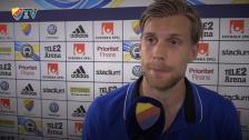 Gunnarsson om sitt första derby