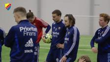 Erik Berg är tillbaka i fotbollsträning