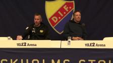 Presskonferensen efter DIF-Mjällby