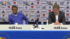Presskonferensen efter Kalmar Djurgården