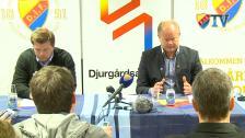 Presskonferensen efter Djurgården Halmstad
