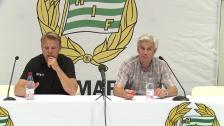 Presskonferensen efter Hammarby - Östers IF